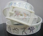 2013 Printing silicon belts in fashion accessories