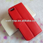 credit card slot wallet leather case for iphone 5