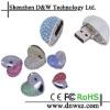 Jewelry diamond usb flash drive decorative heart shape