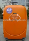 """""""smiling face """"abs waterproof LF8005 3 PCS TROLLEY CASE with 360 4 wheels"""