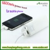 6600mah Portable power bank for mobile phone