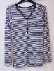220 CHUNLEIZZ 100% custom lady cotton stripe tshirt cotton tshirts pima cotton tshirts organic cotton tshirt ladies blank cotton