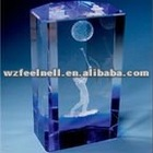 glass cube trophy