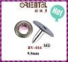 famous brand rhinestone rivet 9.5mm high end jean rivet