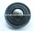 8 Thread and pewter metal alloy pocket button for garment