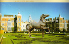 large metal horse sculpture