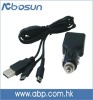 Black car charger cable