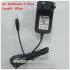 Hot sale 9v 2a 3.5mm usb charger