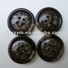 Fancy polyester resin button for coats, fancy resin buttons for craft