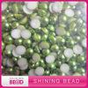 colorful half round plastic pearls