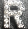 slider pet charm rhinestone letters pet accessory
