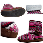 knit indoor boot