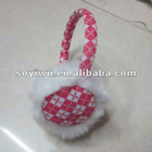 1367007 Winter Stuff Plaid Ear Muffs Earmuff