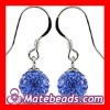 8mm Shamballa Earrings For Bridal