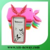 Creative rabbit ear silicon animal case for iphone 4