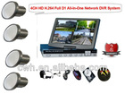 CCTV H.264DVR 4 xMirror Vehicle Cameras Security Surveillance System