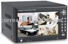 CCTV security 8 channel H.264 DVR digital video recorder with 7 inch LCD monitor