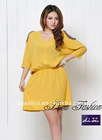 US Style Lady Beaded Cotton Casual Dress