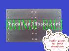 Rubber shock absorber block