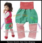 wholesale free shipping pants baby Pants, baby clothing, high waistline embroidery baby wear,baby trousers,the baby PP pants