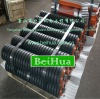 high quality impact roller idler with rubber ring