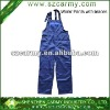 High quality Blue safety workwear pants/suspender pants