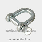 Stainless Steel Bow Shackle with Screw Pin