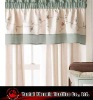poly linen embroidered panels and valance