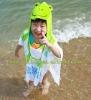 100% Cotton Poncho Hooded Beach Towel