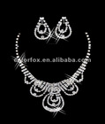 Gorgeous Crystals Diamonds Bridal Wedding Jewelry Necklace (COLORFOX-NL-001)