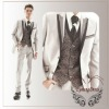 2012 Autumn Winter New style Men's Ecru wedding suit