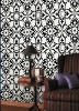 black and white wallpaper for home/hotel
