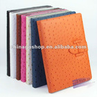 For ipad 3 leather case with Ostrich lines