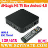 AMLogic M3 tv box 1GB/4GB Cortex A9 1.2GHz Google Android 4.0 TV BOX XBMC WiFi & RJ45 Ethernet 1080P HDMI & AV output