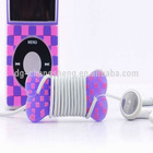 Lovely silicone bone cable winder for earphone line