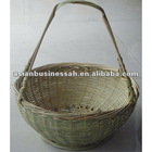 bamboo basket with handle,plain bamboo basket