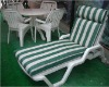 Outdoor adjustable lounge chair with cushion