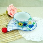 ceramic tea cups and saucers