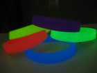 Promotion gifts glow in dark silicone rubber bracelets