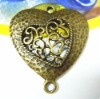 Zakka ~ Heart Antique Bronze Charms for DIY Jewellery Accessories