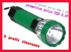 plastic led rechargeable torch/flashlight