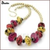 colorful big beads antique resin jewelry necklace KL-NL-W-1664