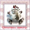 hot selling festival christmas enamel snowmen brooch jewelry gift