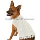Stylish Cable Knit Dog Poncho Sweater