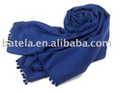 New Arrival Pain Color Leisure 100% Acrylic Scarf with ball fringle