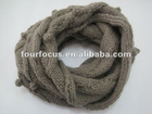 round knitted neck scarf