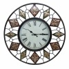 "23""dia large metal wall clock with FDL design for home decor."