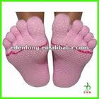 Fashion Yoga Toe Sock With Non Slip Sole