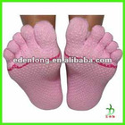 Fashion Yoga Toe Sock With Non Slip Sole