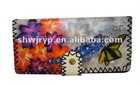 Fashion flower printed purse for 2012/wallet